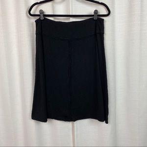 Prana Black Organic Cotton A Line Skirt Sz.L